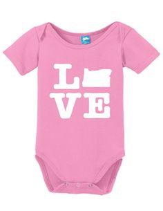 Oregon Love Onesie Funny Bodysuit Baby Romper