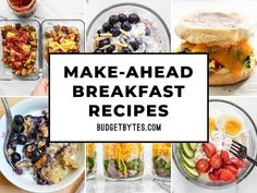 13 Make-Ahead Breakfast Recipes for Busy Mornings - Budget Bytes