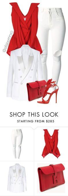 """Red x White"" by efiaeemnxo ❤ liked on Polyvore featuring (+) PEOPLE, Rodarte, Neil Barrett, Hermès, Giuseppe Zanotti, GiuseppeZanotti, hermes, farfetch, sbemnxo and styledbyemnxo #giuseppezanottiheelsred #giuseppezanottiheelswhite"