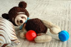 Shy  Baby bear One of the kind Brown and biege Jointed by deniza17, $135.00