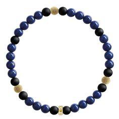 d84b9e8e6 Thomas Sabo Gold Plated Black Blue Beaded Bracelet A1529-931-32-L17