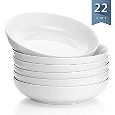 Buy Sweese 1309 Porcelain Salad/ Pasta Bowls - 22 Ounce - Set of White at Wish - Shopping Made Fun Serving Bowl Set, Homemade Tomato Sauce, Chicken Tortilla Soup, Buddha Bowl, Peanut Sauce, Salad Bowls, Dog Bowls, Porcelain, Tableware