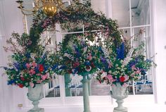 Spring Floral Arch made up blossom at The Orangery in Holland Park