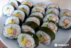 Tonhal sushi 2. - rákkal, tojással, uborkával