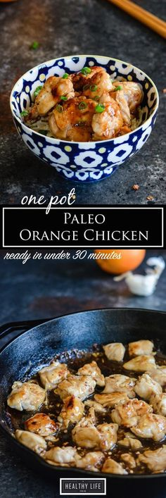 Paleo Orange Chicken One Pot Under 30 minute Recipe | Paleo Recipe | Gluten Free Recipe | Weeknight Dinner Recipe | Kid Friendly Recipe | Healthy Recipe | Macro Recipe