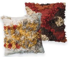 Disco Redux: From the @justinablakeney Collection for @LoloiRugs, the new Fable pillows boast a hip, Bohemian aesthetic in wool with metal and crystal embellishment from India. October 2015 #hpmkt