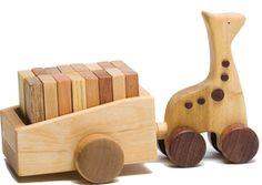 NOTED - Holzgiraffe mit Dominos