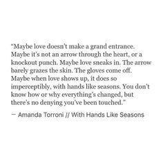 Loving this piece of writing from @amandatorroni ☺️❤️