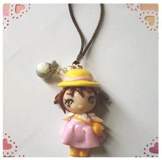 mei my neighbor totoro chibi phone necklace by FairysLiveHere