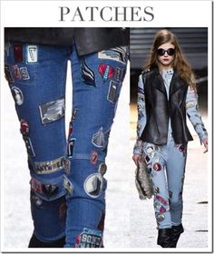 Denim Trends AW14/15 China/patches