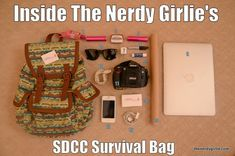 The Nerdy Girlie: Inside The Nerdy Girlie's San Diego Comic Con Survival Bag... This will happen one day #bucketlist