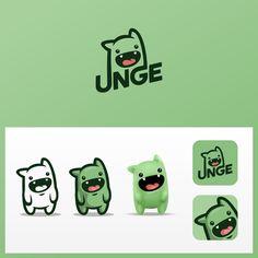 Mascot style logo design and avatar for Twitch streamer UNGE. Design by Ricky AsamManis. Web Design, Icon Design, Design Ideas, Kids Branding, Logo Branding, Corporate Branding, Logo Inspiration, Type Logo, Game Logo Design