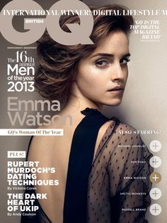 "Emma Watson is ""Woman of the Year"" in British GQ October 2013 Shoot"