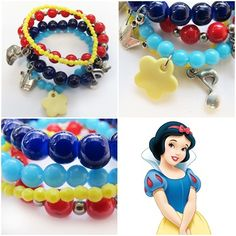 'Snow White' bracelet for your little girl! As pretty as princess Snow White! #kitzforkids
