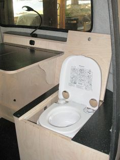 Porta Potty Cabinet In Camper Not Bad Idea If I Take The Ugly Sink