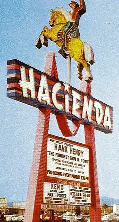 The fun horse sign of The Hacienda!