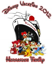 Disney Cruise Fantasy Family Vacation T shirt Personalized tee