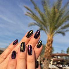 I almost forgot to post my #CoachellaNails! ☀️ #nailart Festival Blingy Nails