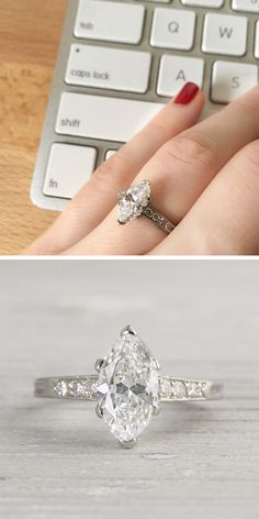Vintage Tiffany & Co. Marquise Diamond Engagement Ring