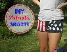 Me, Myself, Malia: DIY Patriotic Shorts!