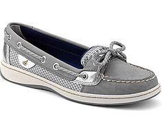 Angelfish Sport Mesh 2-Eye Boat Shoe, Charcoal / Silver Sport Mesh, dynamic