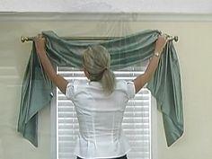 How to Install a Swag Valance - Blinds.com Fabric Valance DIY ...
