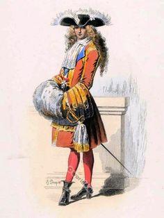 costume baroque français. vêtements du 17ème siècle. la mode Louis XIV Ancien Régime. Robe Cour à Versailles