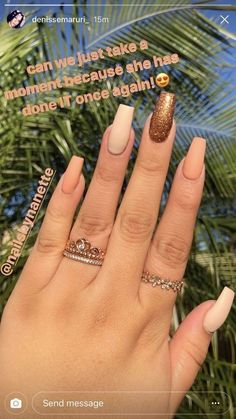 """If you're unfamiliar with nail trends and you hear the words """"coffin nails,"""" what comes to mind? It's not nails with coffins drawn on them. It's long nails with a square tip, and the look has. Aycrlic Nails, Prom Nails, Love Nails, How To Do Nails, Hair And Nails, Coffin Nails, Gradient Nails, Color Nails, Matte Nails"""