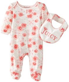 Juicy Couture Baby Baby-Girls Newborn Poppy Floral Footie with Bib, Poppy Print, 3-6 Months Juicy Couture,http://www.amazon.com/dp/B00FSAJGJ8/ref=cm_sw_r_pi_dp_CgYytb19SA79Y4J6