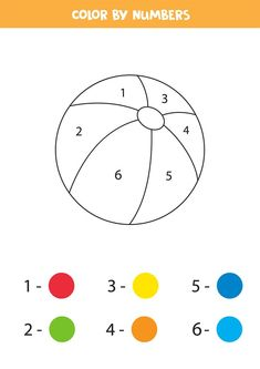 Free Printable Color by Number Worksheets For Kindergarten - Tulamama Learning Numbers Preschool, Color Worksheets For Preschool, Preschool Workbooks, Literacy Worksheets, Free Preschool, Worksheet For Nursery Class, Nursery Worksheets, Nursery Activities, Physical Activities For Kids