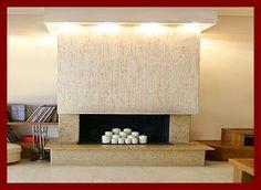 Stylish design of the modern fireplace decorations