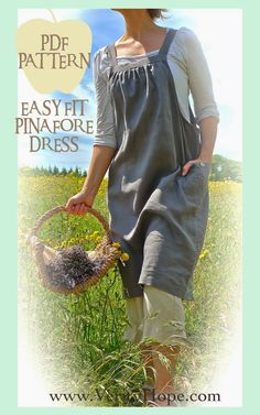 summer dress sewing pattern Easy Fit Pinafore PDF
