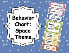 """Here+is+a+fun+space+themed+behavior+chart+for+your+classroom!++This+chart+is+a+great+way+to+promote+and+encourage+positive+behavior,+while+giving+consequence+for+inappropriate+behavior.When+I+use+this+in+my+classroom,+my+students+all+begin+their+day+on+""""Ready+to+Learn.""""++When+they+exhibit+good+behavior+they+can+move+up+on+the+chart."""