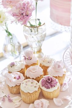 Mini Cupcakes, Cheesecake, Desserts, Pink, Color, Birthday, Tailgate Desserts, Deserts, Cheesecakes