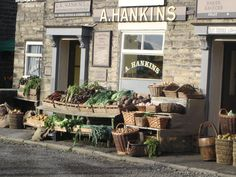 The grocers 'Hankins' in the BBC drama 'The Village'. Filmed in Hayfield where I live.