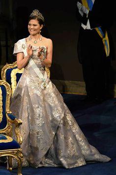 anythingandeverythingroyals:   Nobel Prize Ceremony, Stockholm, Sweden, December 10, 2016-Crown Princess Victoria