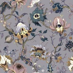 ARTEMIS Wallpaper Amethyst from House of Hackney