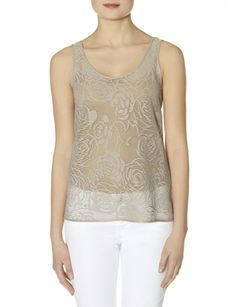 OBR Textured Rose Layering Tank from THELIMITED.com #TheLimited #Tops #Floral #SpringStyle