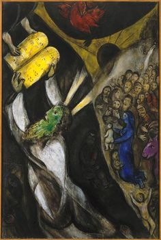 Moses receiving the Tablets of Law - Marc Chagall