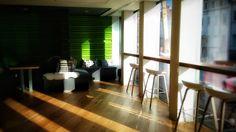 #zendesk #london #office Zen Desk, Offices, Vsco, Divider, Windows, Curtains, London, Room, Furniture