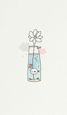 Imagem de cute, fish, and flower drawing apps Image about cute in Phone's Wallpapers 📱 by Amimi ~ 사랑 Cute Easy Drawings, Kawaii Drawings, Doodle Drawings, Drawing Sketches, Drawing Ideas, Simple Doodles Drawings, Cute Drawings Tumblr, Beautiful Easy Drawings, Easy Doodles