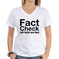 Fact Check Women's V-Neck T-Shirt