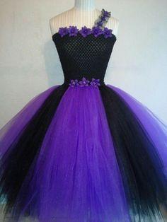 Purple and black tutu dress. Facebook  page Tutu Fairytale