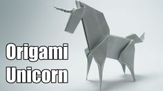 Origami Unicorn (Jo Nakashima) WATCH THE NEW UNICORN TUTORIAL! I made some improvements to this model and it's now much better How to make an origami Unicorn, Designed by Jo Nakashima Dedicated to Camila Zeymer Support my chan. Origami Tutorial, Origami Unicorn Instructions, Gato Origami, Origami Horse, Instruções Origami, Origami Lamp, Origami Envelope, Useful Origami, Origami Design