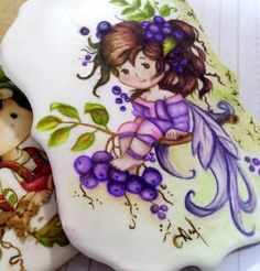 Fairy Hand Painted cookie from Love Cookies & Art by Andrea Costoya