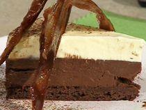 Mousse de chocolate y maracuya