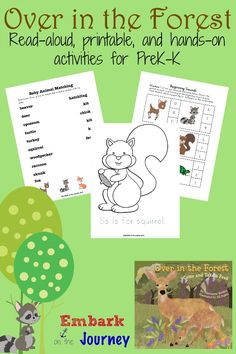 Over in the Forest Read-Aloud Activities and FREE Printable
