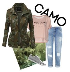 Camo!! by joziee on Polyvore featuring polyvore fashion style ONLY LE3NO Miss Selfridge Converse clothing camostyle