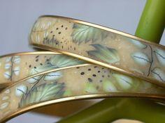 ferny/leafy bracelets by Marla Frankenberg, via Flickr