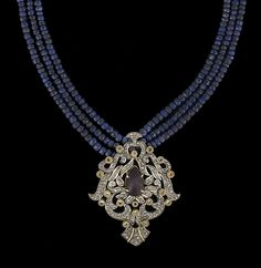 Buy online, view images and see past prices for Gold Vermeil, Sapphire and Diamond Necklace. Invaluable is the world's largest marketplace for art, antiques, and collectibles. Diamond Earrings Indian, Blue Sapphire Necklace, Indian Necklace, Emerald Jewelry, Gold Jewelry, India Jewelry, Bead Jewellery, Diamond Jewellery, Antique Jewellery Designs